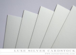 Paper Basics - Luxe Silver Cardstock (5 Sheets)