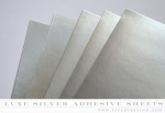 Paper Basics - Luxe Silver Adhesive Sheets (5 sheets)