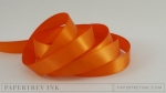 "Orange Zest 1/2"" Satin Solid Ribbon (5 yards)"