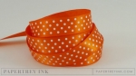 "Orange Zest 5/8"" Satin Dots Ribbon (5 yards)"