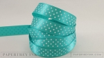 "Hawaiian Shores 5/8"" Satin Dots Ribbon (5 yards)"