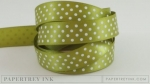 "Simply Chartreuse 5/8"" Satin Dots Ribbon (5 yards)"