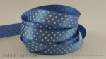 "Blueberry Sky 5/8"" Satin Dots Ribbon (5 yards)"