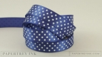 "Royal Velvet 5/8"" Satin Dots Ribbon (5 yards)"