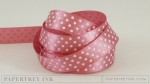 "Autumn Rose 5/8"" Satin Dots Ribbon (5 yards)"