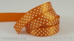 "Canyon Clay 5/8"" Satin Dots Ribbon (5 yards)"