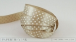 "Classic Kraft 5/8"" Satin Dots Ribbon (5 yards)"