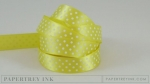 "Limeade Ice 5/8"" Satin Dots Ribbon (5 yards)"