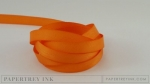 "Orange Zest 3/8"" Twill Tape Ribbon (5 yards)"