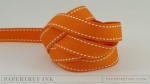 "Orange Zest 5/8"" Saddle Stitch Ribbon (5 yards)"