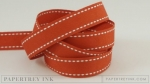 "Terracotta Tile 5/8"" Saddle Stitch Ribbon (5 yards)"