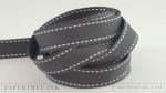 "Smokey Shadow 5/8"" Saddle Stitch Ribbon (5 yards)"