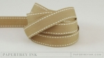 "Classic Kraft 5/8"" Saddle Stitch Ribbon (5 yards)"