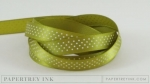 "Simply Chartreuse 3/8"" Bitty Dot Satin Ribbon (5 yards)"