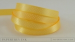 "Harvest Gold 3/8"" Bitty Dot Satin Ribbon (5 yards)"