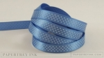 "Blueberry Sky 3/8"" Bitty Dot Satin Ribbon (5 yards)"