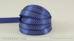 "Royal Velvet 3/8"" Bitty Dot Satin Ribbon (5 yards)"