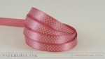 "Autumn Rose 3/8"" Bitty Dot Satin Ribbon (5 yards)"