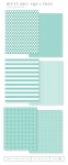 Bitty Big: Aqua Mist Color Collection (24 sheets)