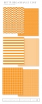 Bitty Big: Orange Zest Color Collection (24 sheets)