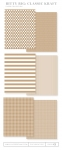 Bitty Big: Classic Kraft Color Collection (24 sheets)