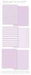 Bitty Big: Lilac Grace Color Collection (24 sheets)