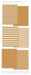 Bitty Big: Honey Nut Color Collection (24 sheets)