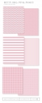 Bitty Big: Pink Posey Color Collection (24 sheets)