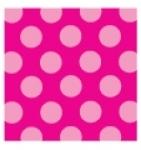 Raspberry Fizz Polka Dot Individual Pattern Sheets (18 sheets)