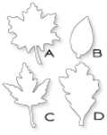 Papertrey Ink - Leaf Prints Die Collection (set of 4)