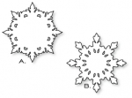 Papertrey Ink - Damask Snowflakes Die Collection (set of 2)