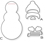 Papertrey Ink - Shape Up Series: Snowman Die Collection (set of 3)
