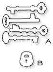 Papertrey Ink - Lock & Key Die Collection (set of 2)