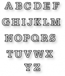 Papertrey Ink - Block Alphabet Upper Die Collection (set of 26)