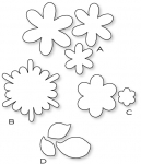 Papertrey Ink-Frilly Flowers Die Collection (set of 4)