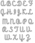 Papertrey Ink - Upper Script Alphabet Die Collection (set of 26)