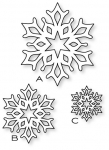 Papertrey Ink - Fancy Flakes Die Collection (set of 3)