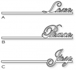 Papertrey Ink - One Liners Die Collection (set of 3)