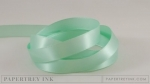 "Aqua Mist 1/2"" Satin Solid Ribbon (5 yards)"