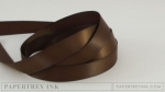 "Dark Chocolate 1/2"" Satin Solid Ribbon (5 yards)"