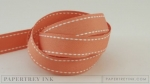 "Melon Berry 5/8"" Saddle Stitch Ribbon (5 yards)"