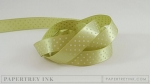 "Spring Moss 5/8"" Satin Dots Ribbon (5 yards)"