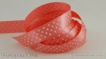 "Berry Sorbet 5/8"" Satin Dots Ribbon (5 yards)"
