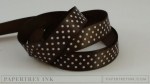 "Dark Chocolate 5/8"" Satin Dots Ribbon (5 yards)"