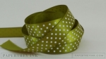 "Ripe Avocado 5/8"" Satin Dots Ribbon (5 yards)"