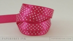 "Raspberry Fizz 5/8"" Satin Dots Ribbon (5 yards)"