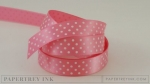 "Hibiscus Burst 5/8"" Satin Dots Ribbon (5 yards)"