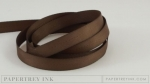 "Dark Chocolate 3/8"" Twill Tape Ribbon (5 yards)"