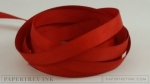 "Pure Poppy 3/8"" Twill Tape Ribbon (5 yards)"
