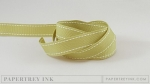 "Spring Moss 5/8"" Saddle Stitch Ribbon (5 yards)"